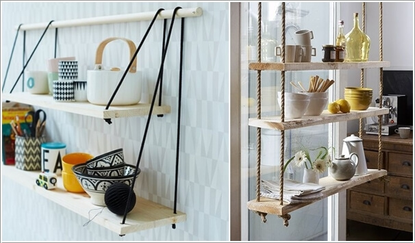 10 Cool Ways to Decorate with Suspended Shelves 6