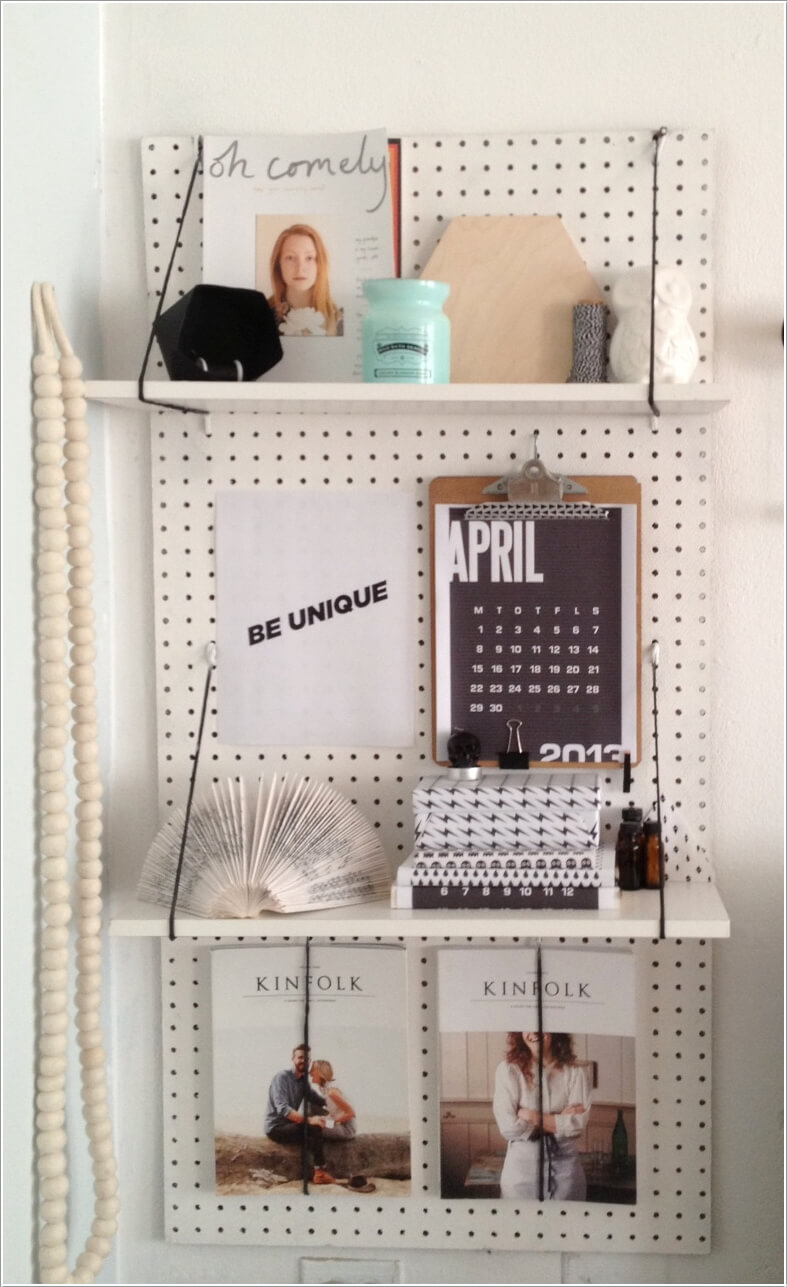 10 Cool Ways To Decorate With Suspended Shelving