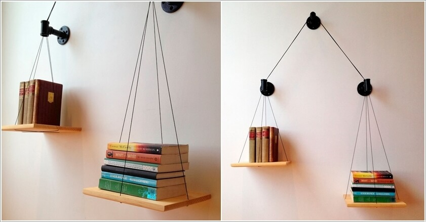 10 Cool Ways to Decorate with Suspended Shelves 9