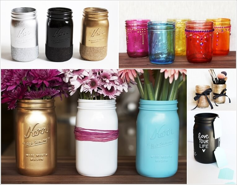 5 Ways in Which You Can Color Mason Jars 1