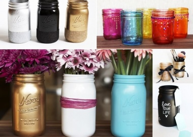 5 Ways in Which You Can Color Mason Jars fi