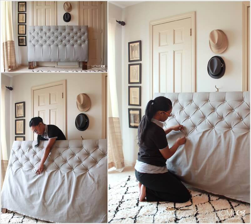 Make a diamond tufted headboard for your bed for How to make home decorations