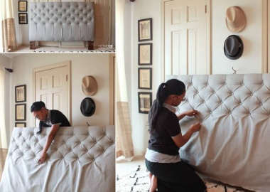 Make a Diamond Tufted Headboard for Your Bed fi