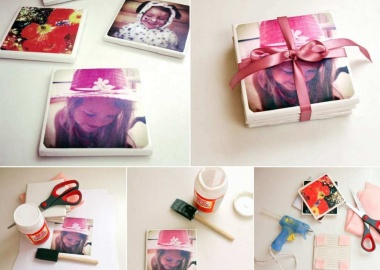 Make These Awesome Tile Photo Coasters fi
