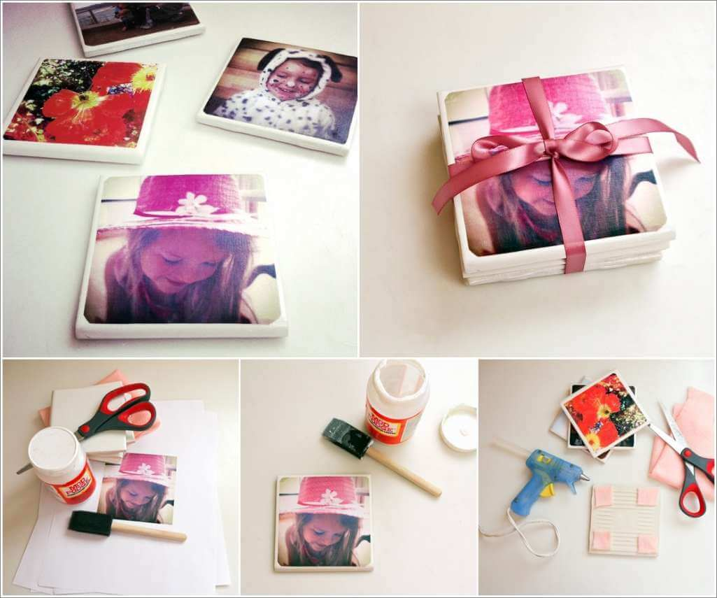 Make These Awesome Tile Photo Coasters 1