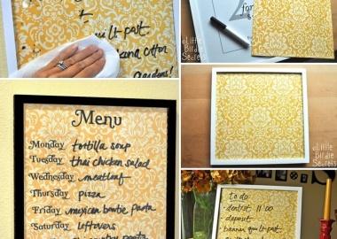 Make This Practical Wipe Off Weekly Menu Board fi