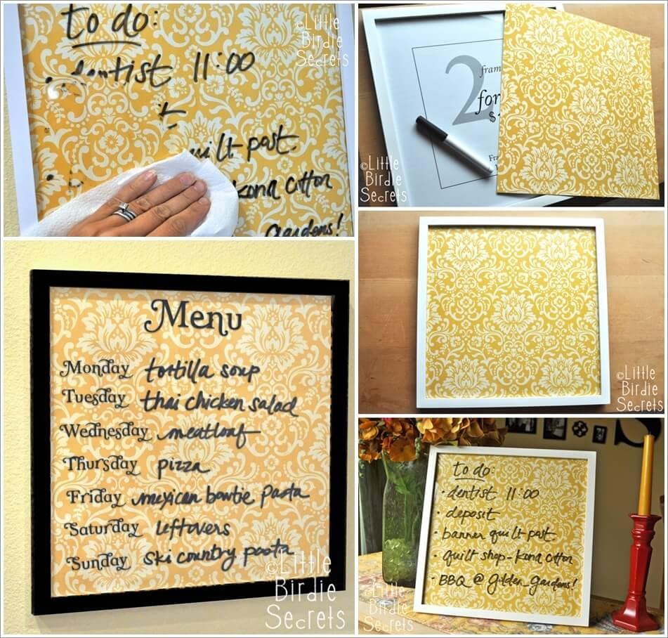 Make This Practical Wipe Off Weekly Menu Board 1