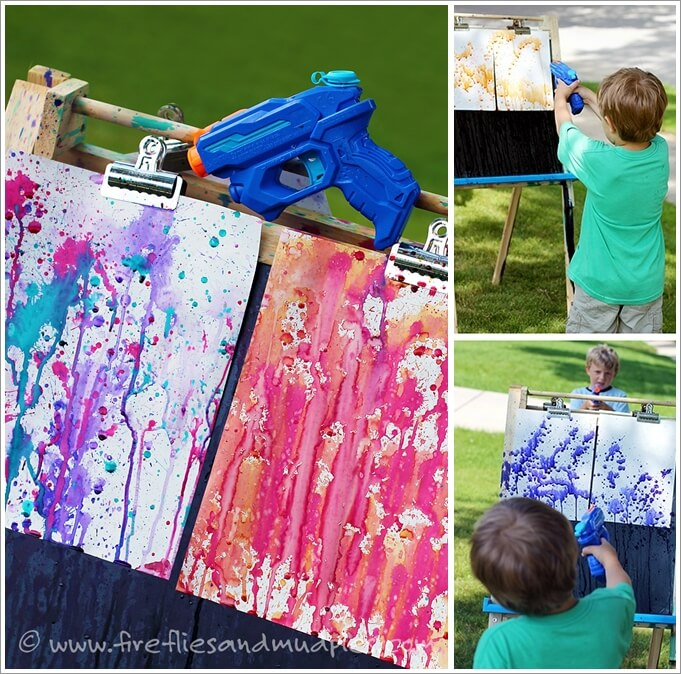 This Squirt Gun Painting Idea is Just Fabulous 1
