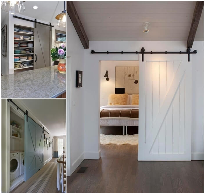 10 Awesome Ways to Decorate Your Home with Barn Doors a