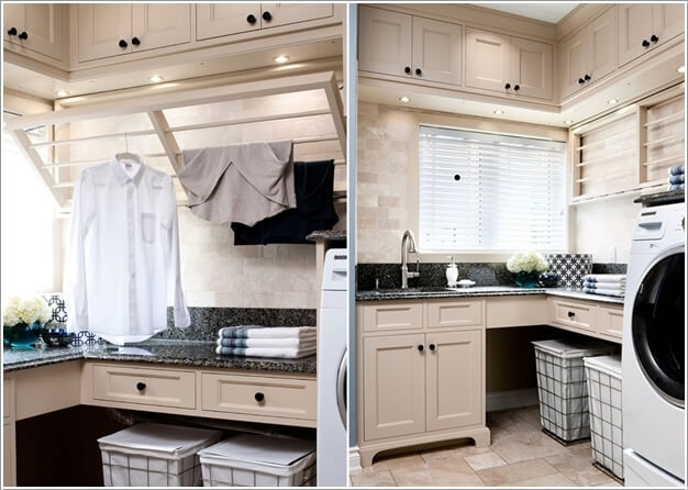 10 Clever Clothes Hanging Solutions for Your Laundry Room 3