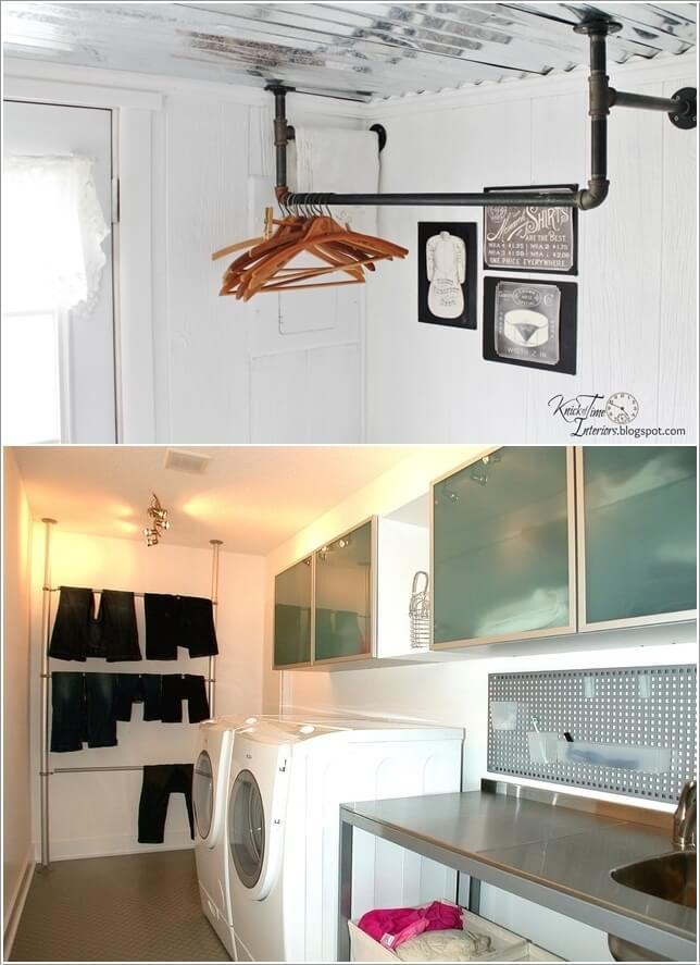 10 Clever Clothes Hanging Solutions for Your Laundry Room 9