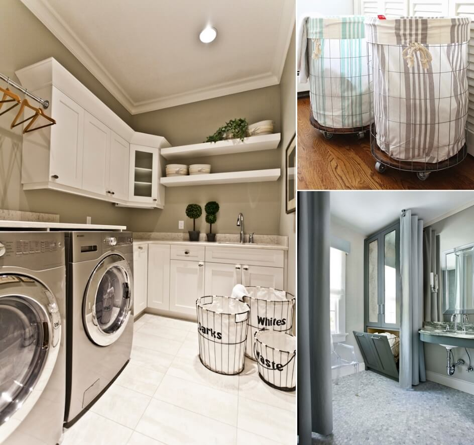 10 cool clothes hamper ideas for your laundry room - Laundry basket ideas for small space ideas ...
