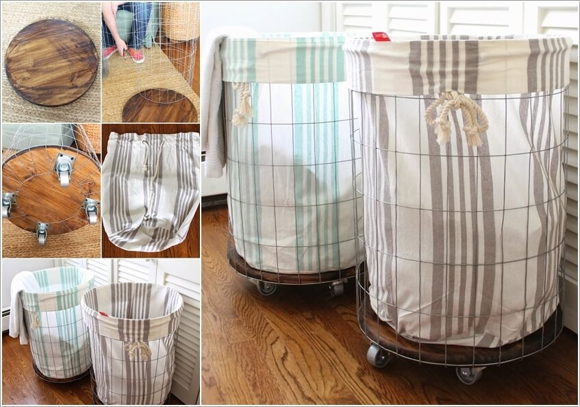 10 Cool Clothes Hamper Ideas for Your Laundry Room 4