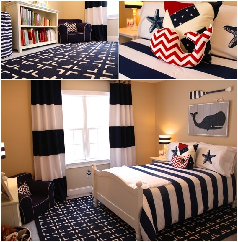 Bedroom Decor Kids Bedroom Design Ideas Dark Wood Tv In Bedroom Design Ideas Bedroom Colors India: 10 Cool Nautical Kids' Bedroom Decorating Ideas