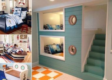 10 Cool Nautical Kids' Bedroom Decorating Ideas fi
