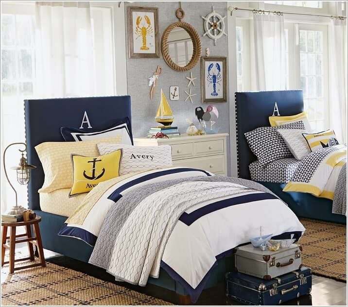 One Bedroom Apartment Layout Ideas Nautical Master Bedroom Decor Luxury Bedroom Lighting Bedroom Ideas Bachelor: 10 Cool Nautical Kids' Bedroom Decorating Ideas