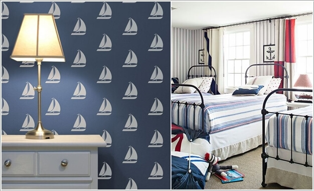 Nautical Bedroom Interior And Decorating Themes: 10 Cool Nautical Kids' Bedroom Decorating Ideas