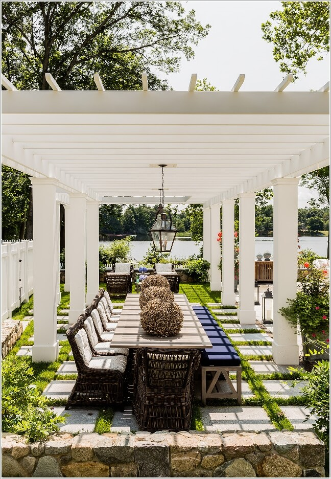 10 Cool Outdoor Dining Room Floor Ideas 2