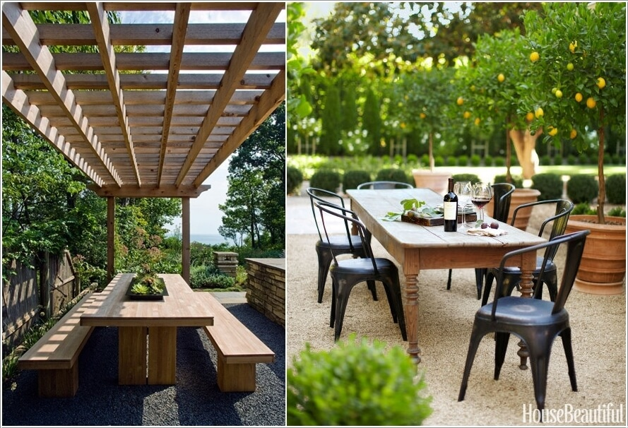 Image gallery outdoor dining for Dining area pictures