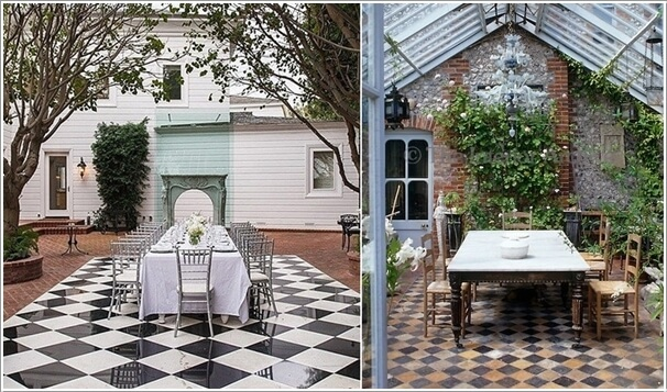 10 Cool Outdoor Dining Room Floor Ideas 8