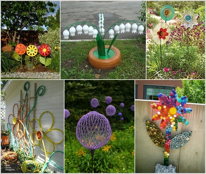 Creative flower amazing exposure diy do it yourself make for Garden decorations from recycled materials