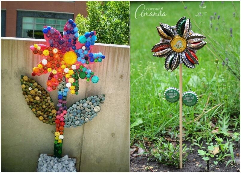 Flower Crafts Recycled Materials - Flowers Healthy