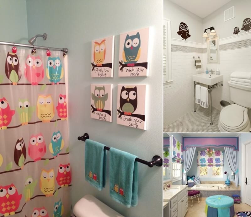 10 cute ideas for a kids 39 bathroom for Pretty small bathroom ideas