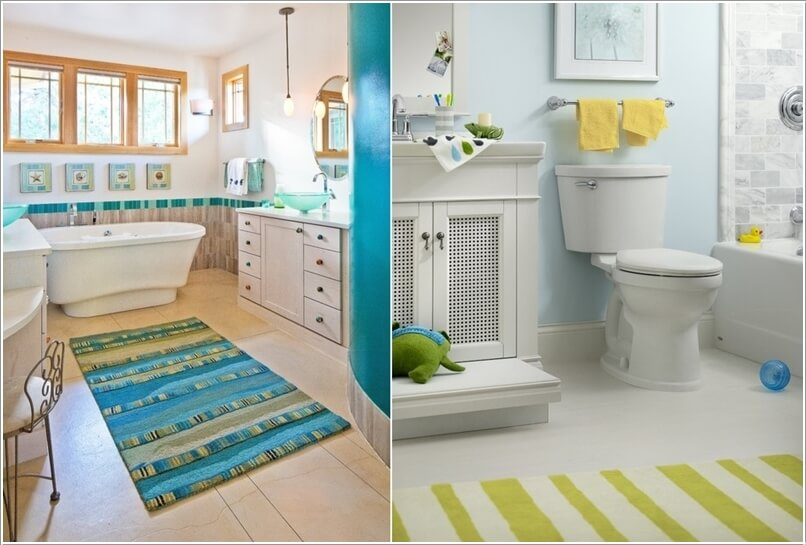10 Cute Ideas for a Kids' Bathroom 10