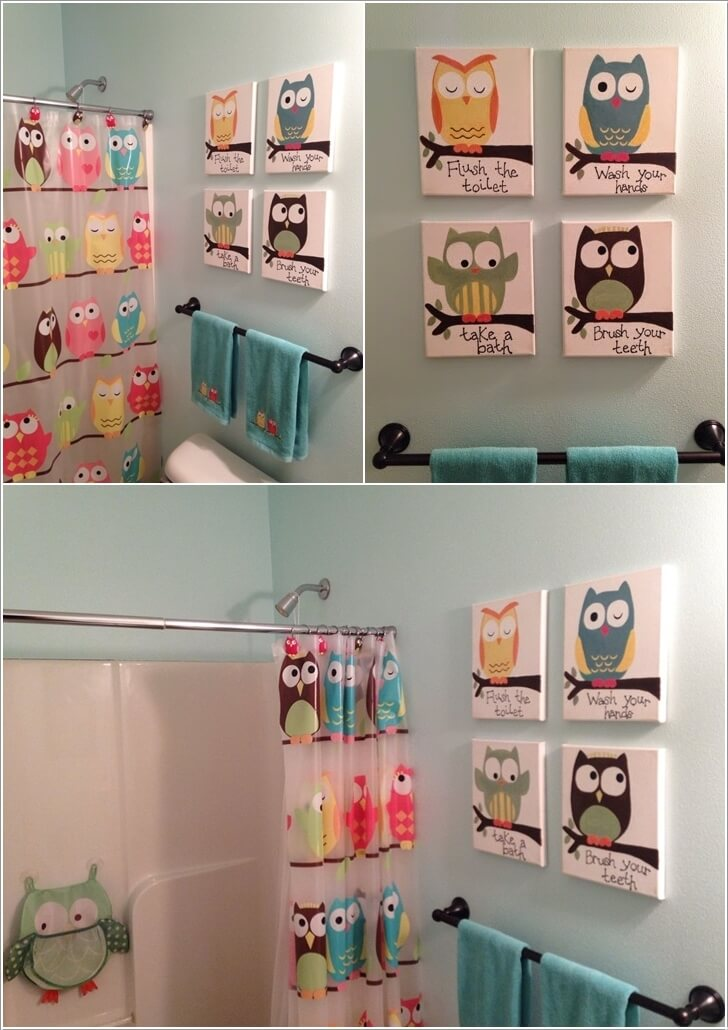 10 Cute Ideas for a Kids' Bathroom 1