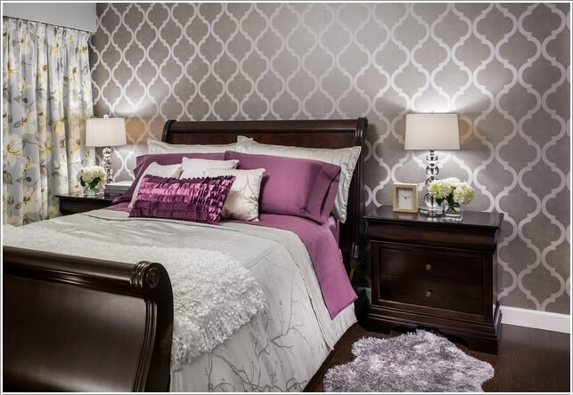 10 Ideas to Add Pattern to Your Bedroom With Else Than a Bedspread 6