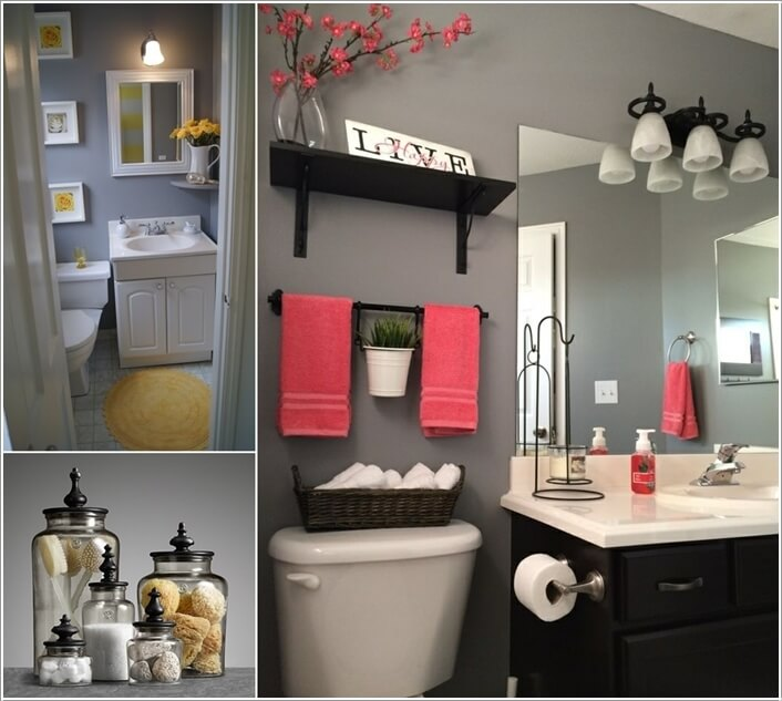 10 Lively Ways to Add Life to a Gray Bathroom 2