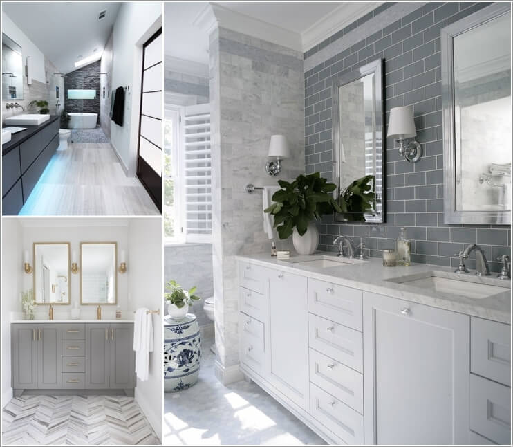 10 Lively Ways to Add Life to a Gray Bathroom a