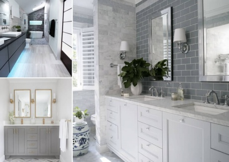 10 Lively Ways to Add Life to a Gray Bathroom fi