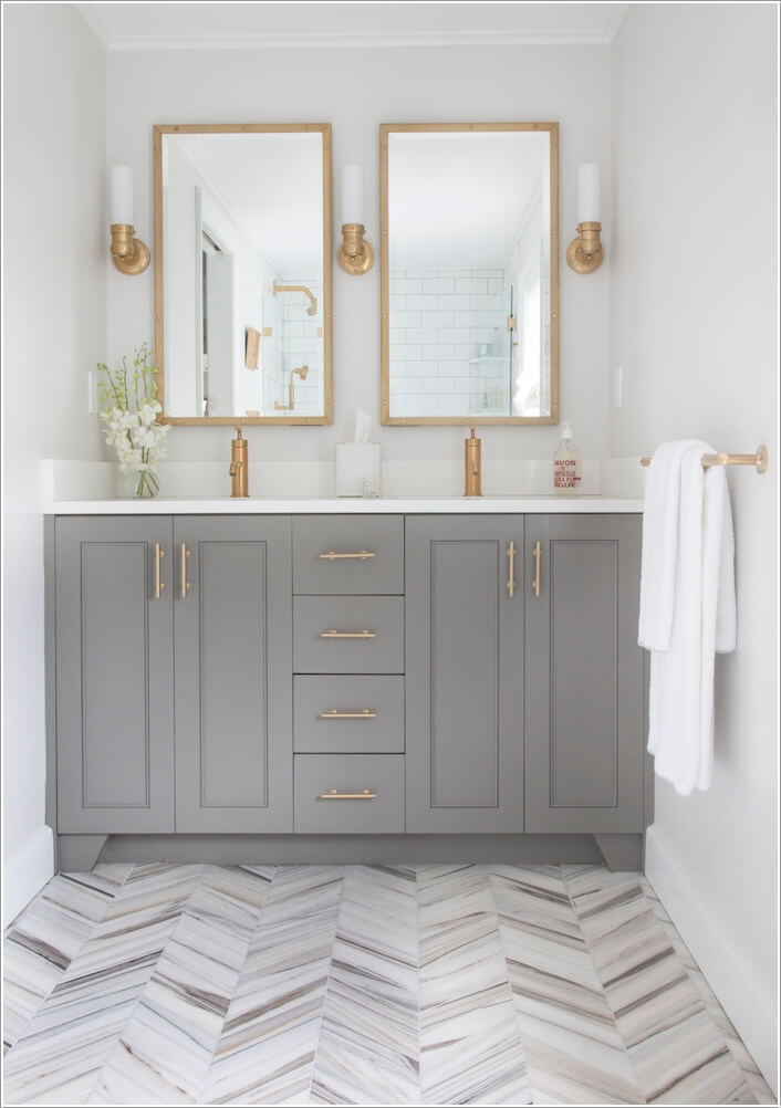 10 Lively Ways to Add Life to a Gray Bathroom 3