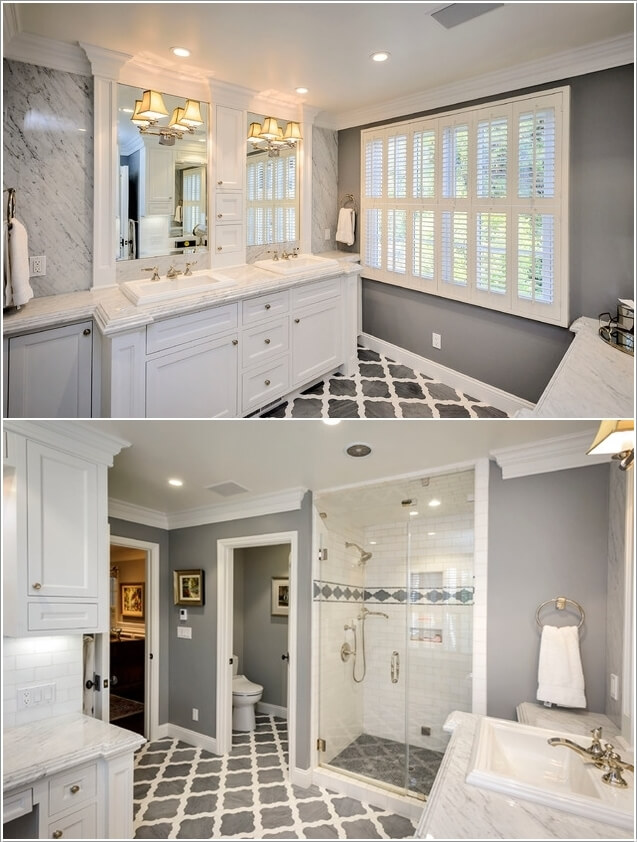 10 Lively Ways to Add Life to a Gray Bathroom 8