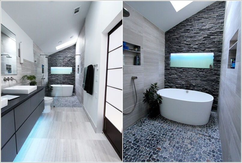 10 Lively Ways to Add Life to a Gray Bathroom 9