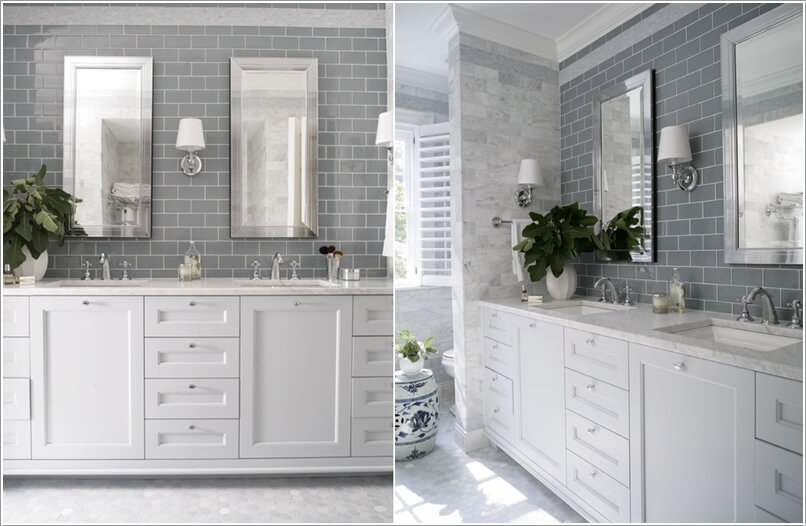 10 Lively Ways to Add Life to a Gray Bathroom 1