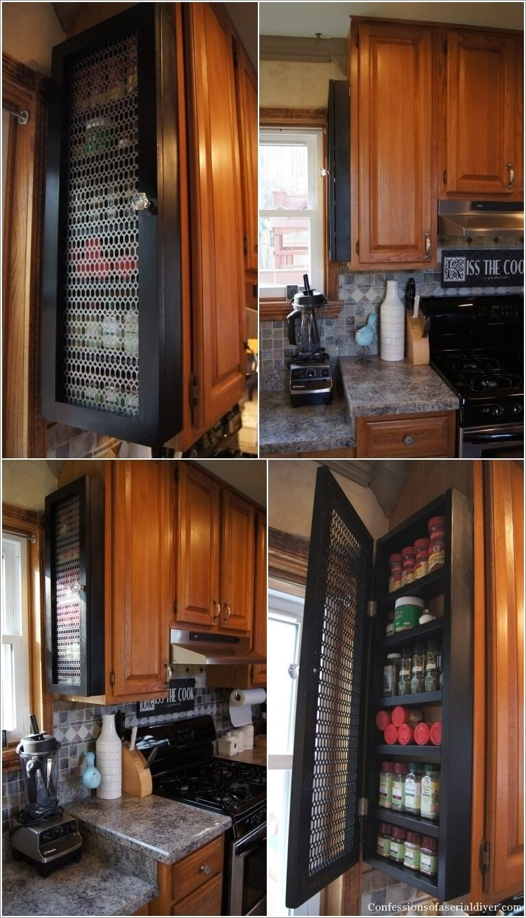 10 Places in Your Kitchen to Install a Spice Rack 2
