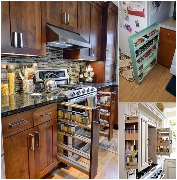 10 places in your kitchen to install a spice rack - Home rangement malin ...