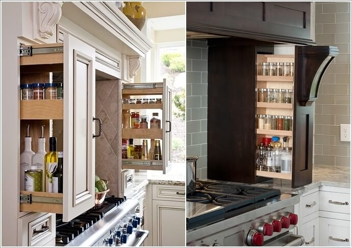 10 Places in Your Kitchen to Install a Spice Rack 3