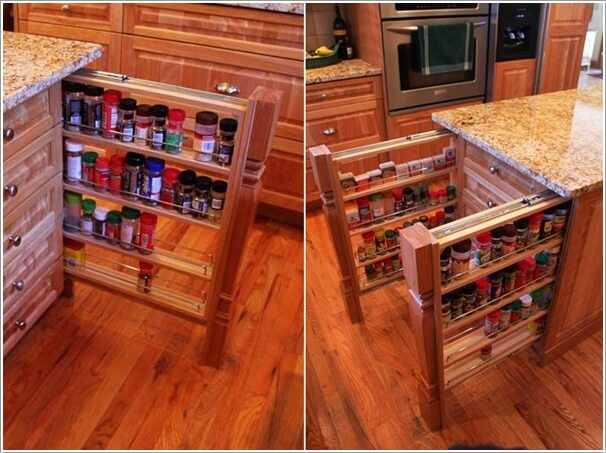 10 Places in Your Kitchen to Install a Spice Rack 4