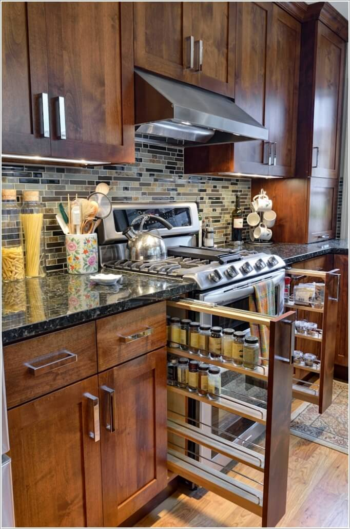 10 Places in Your Kitchen to Install a Spice Rack 5