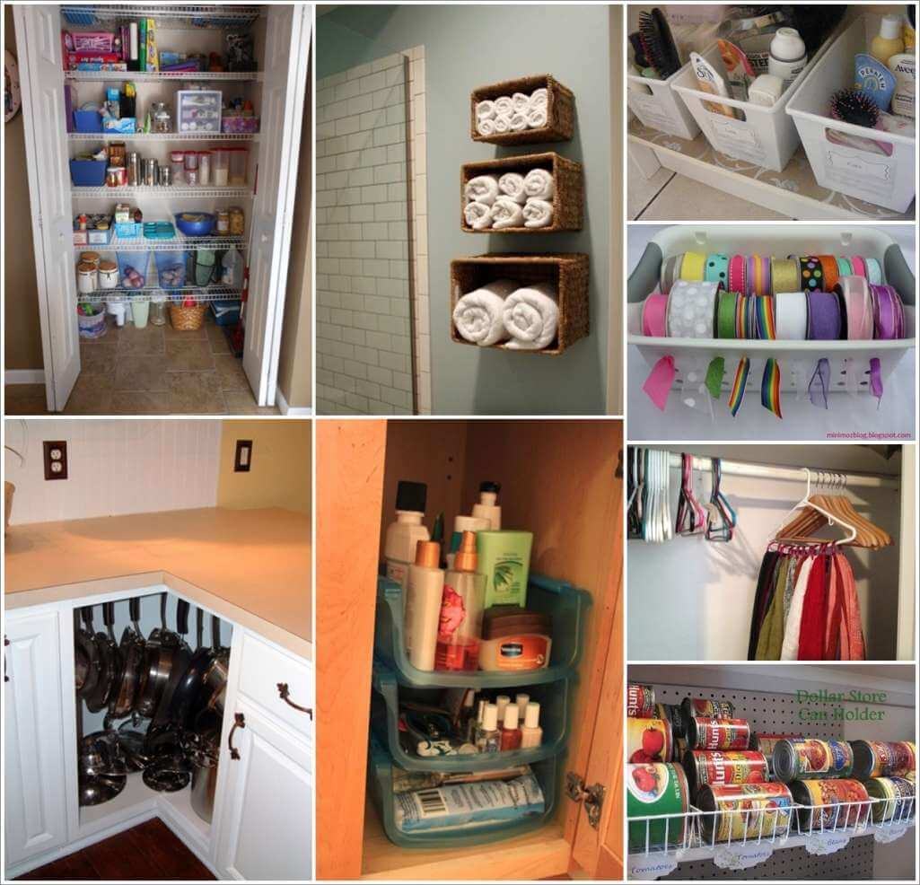 Organizing With Dollar Store Items: 150 Clever Organization Ideas With Dollar Store Items