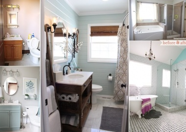 Over 20 Beautiful Before and After Bathroom Makeovers fi