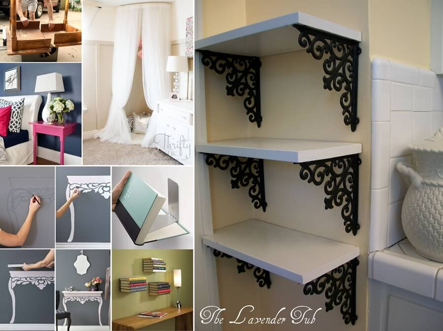 20 low budget but highly amazing diy decor projects Homemade interior design ideas