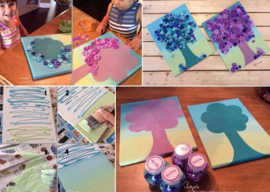 Try This Cute Ombre Button Tree Wall Art fi