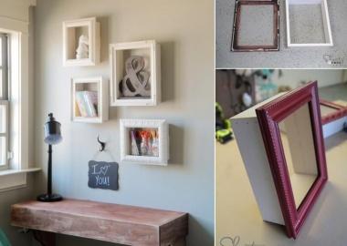 Try These Wonderful DIY Frame Shelves fi