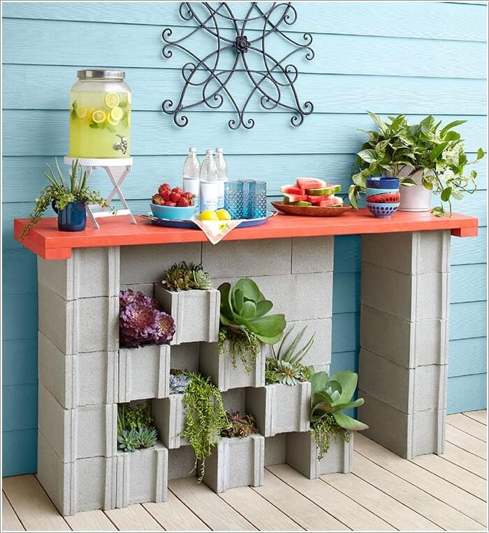 10 Amazing Outdoor Cinder Block Projects 10