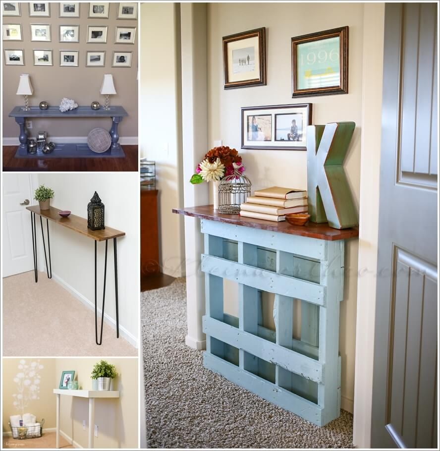 10 Chic Console Tables Your Can Build Yourself 1
