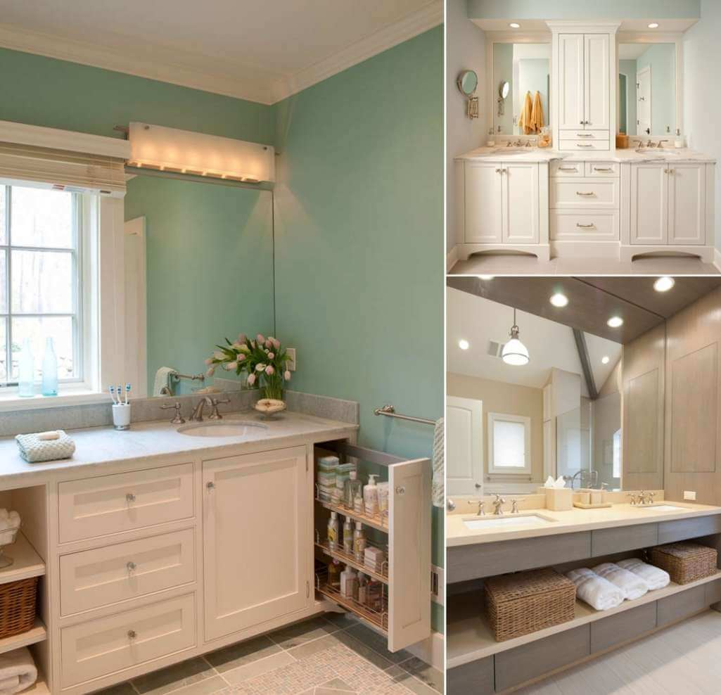 8 clever ways to maximize storage inside your bathroom vanity - Small bathroom vanity with storage ...